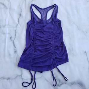 90 degree activewear ruched gathered tank top